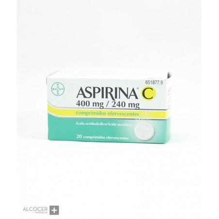 ASPIRINA C 400 mg/240 mg 20 COMPRIMIDOS EFERVESC