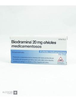 BIODRAMINA 20 MG 6 CHICLES
