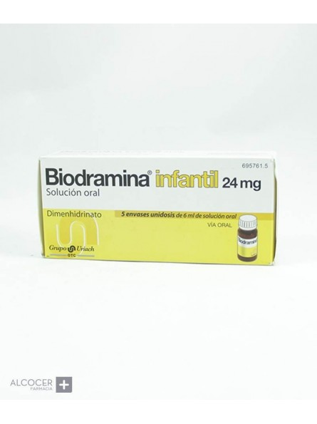 BIODRAMINA INFANTIL 24 mg 5 ENVASES UNIDOSIS SOL