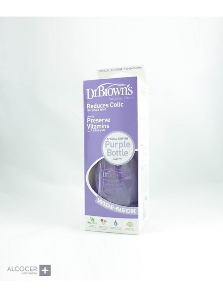 DR BROWN´S BIBERON BOCA ANCHA 270 ML MORADO