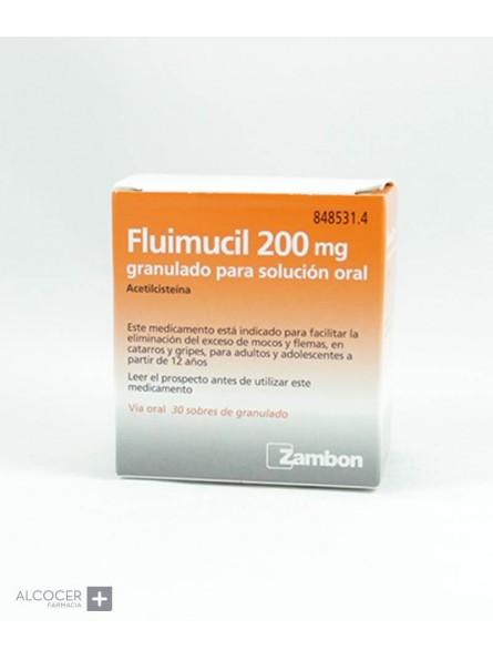 FLUIMUCIL 200 mg 30 SOBRES GRANULADO PARA SOLUCI