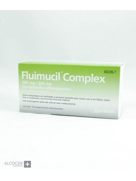 FLUIMUCIL COMPLEX 500 mg/200 mg 12 COMPRIMIDOS E