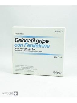 GELOCATIL GRIPE FORTE CON FENILEFRINA 10 SOBRES