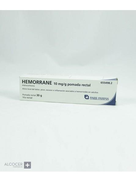HEMORRANE 10 mg/g POMADA RECTAL 1 TUBO 30 g
