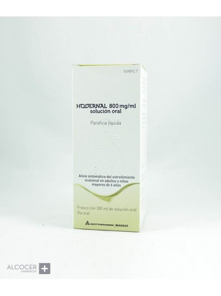 HODERNAL 800 mg/ml SOLUCION ORAL 1 FRASCO 300 ml