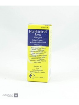 HURRICAINE SPRAY 200 mg/ml SOLUCION PARA PULVERI