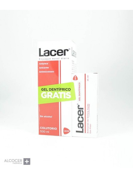 LACER COLUTORIO SIN ALCOHOL 500 ML