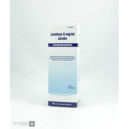 LEVOTUSS 6 mg/ml JARABE 1 FRASCO 200 ml