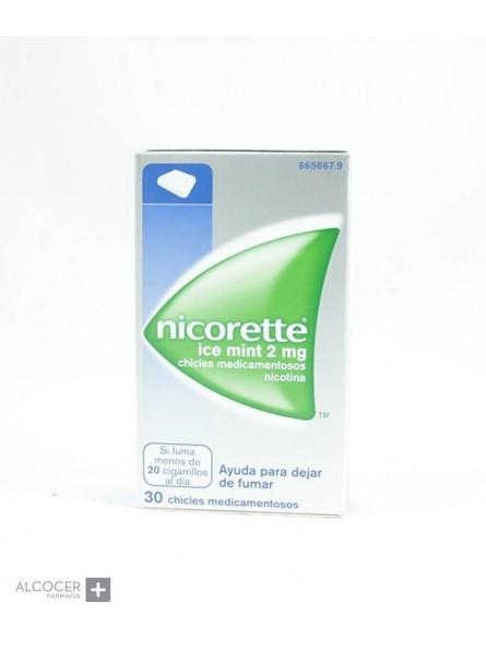 NICORETTE ICE MINT 2 mg 30 CHICLES MEDICAMENTOSO