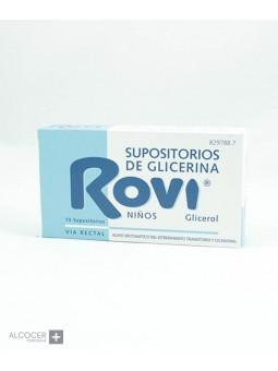 SUPOSITORIOS DE GLICERINA ROVI NIÑOS 1,44 g 15 S