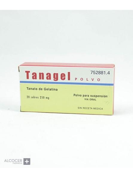 TANAGEL 250 mg 20 SOBRES POLVO PARA SUSPENSION O