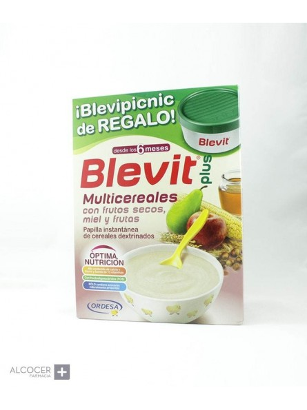 BLEVIT PLUS MULTICEREALES FRUTOS SECOS MIEL 600G