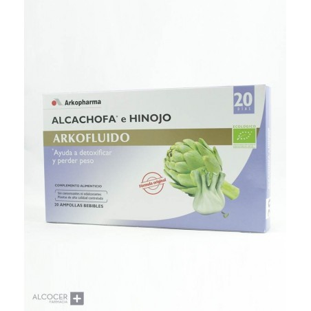 ARKOPHARMA ALCACHOFA HINOJO 20 AMPOLLAS