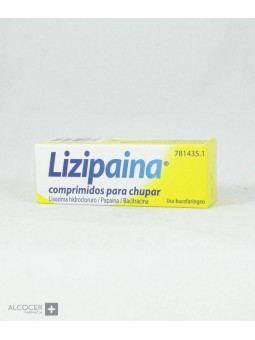 LIZIPAINA CLORHEXIDINA/BENZOCAINA 5 mg/2,5 mg 20
