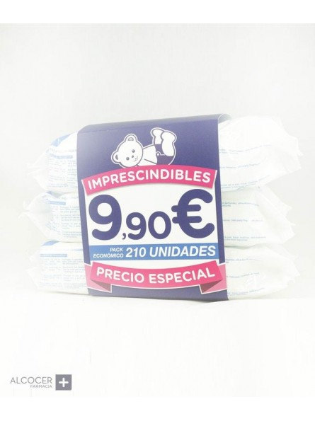 MUSTELA TOALLITAS PACK 3 X 70 UNIDADES