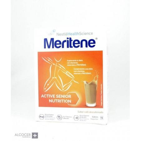 MERITENE BATIDOS CAFE DESCAFEINADO 15 SOBRES