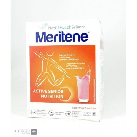 MERITENE BATIDOS FRESA 15 SOBRES