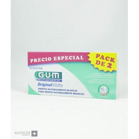 GUM ORIGINAL WHITE PASTA PACK 2 X 75 ML