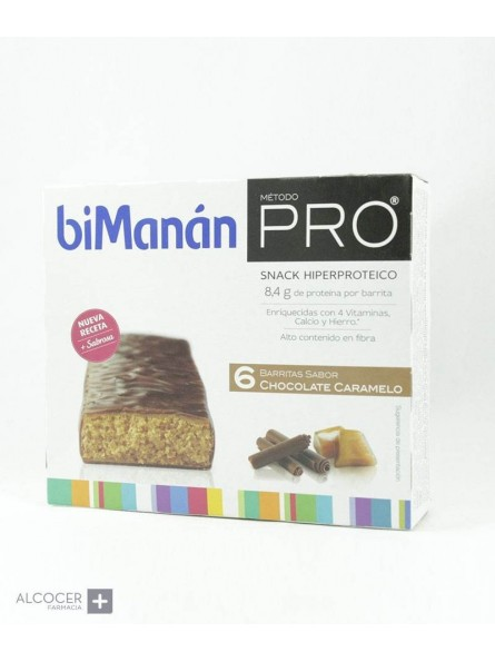 BIMANAN PRO CHOCOLATE-CARAMELO 6 BARRITAS