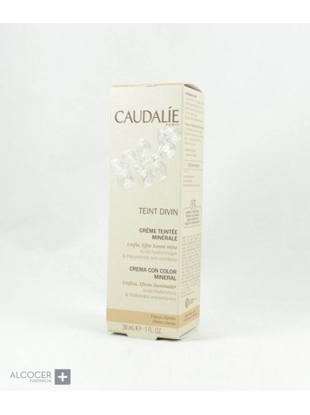 CAUDALIE TEINT DIVIN CR COLOR PIEL CLARA 30 ML