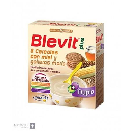 BLEVIT PLUS DUPLO 8 CEREALES MIEL GALLETA 600 GR