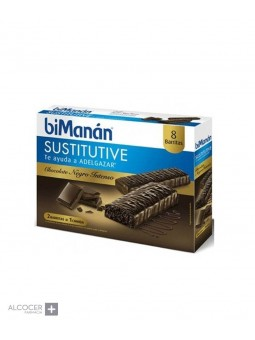 BIMANAN SUSTITUTIVE CHOCOLATE INTENSO 8 BARRITAS