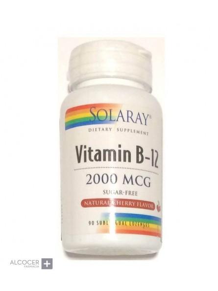 SOLARAY VITAMINA B12 2000 MG 90 COMPRIMIDOS